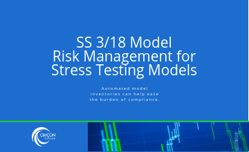 SS 3/18 Model Risk Management for Stress Testing Models.