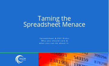 Taming the Spreadsheet Menace.